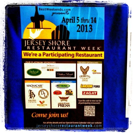 JR's Restaurant at Sheraton Eatontown Hotel is participating in Jersey Shore Restaurant Week.