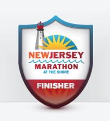 New Jersey Marathon Finisher Badge